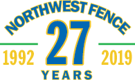 Northwest Fence Logo 20 years 1992 - 2012