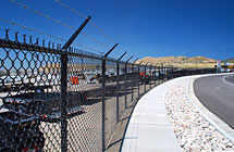 Lehi - Lonepeak Trailers Perimeter Fence - 6' High 3 Strands Barbed Wire Black