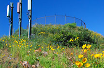 Park City - Water Tank Perimeter Fence - 6' High and 3 Strands Barbed Wire & Black Wire