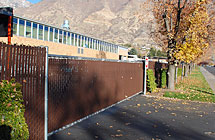 Provo - BYU Maintenance Facility - Cantilever Gate and Privacy Link