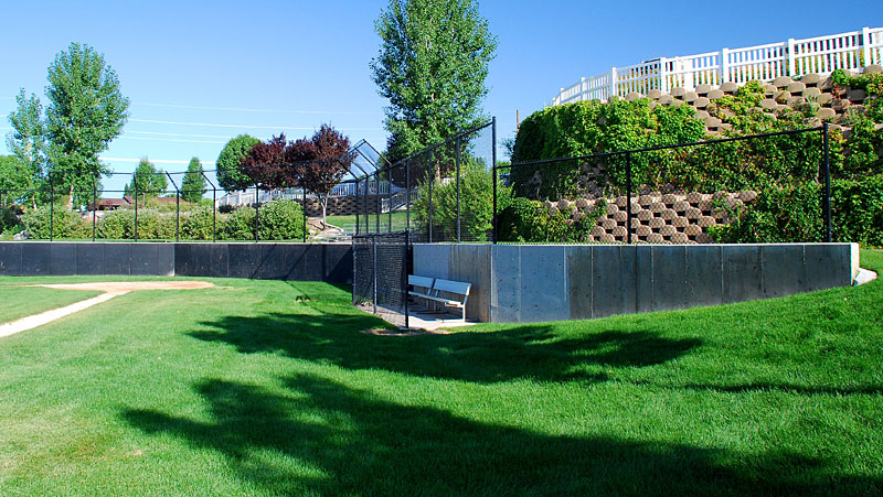 Cedar Hills City Ballpark - Black With Overhang