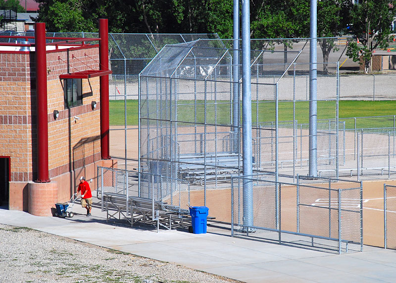 Pleasant Grove - Shannon Softball Fields - 20' High Backstop with 6' Overhang