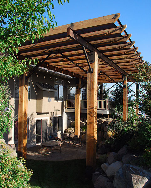Pergolas shade structures northwest fence and supply for Home shade structures
