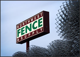 Northwest Fence Sign