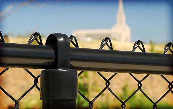 Oquirrh Mountain Temple: Chainlink Fence