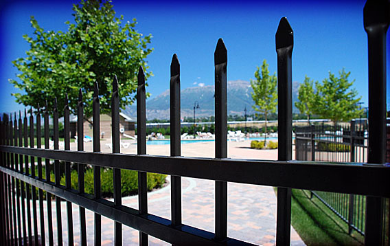 Public Pool: Ornamental Fence